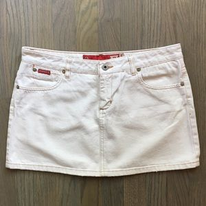 Guess Cream Denim Skirt Size S